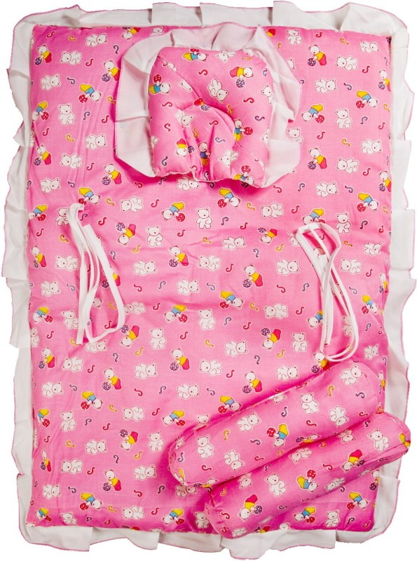 Love Baby Cotton Bedding Set(Pink, White)