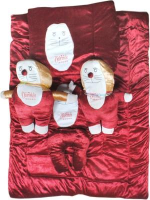 Madhav product Shades of Paradise Velvet Bedding Set