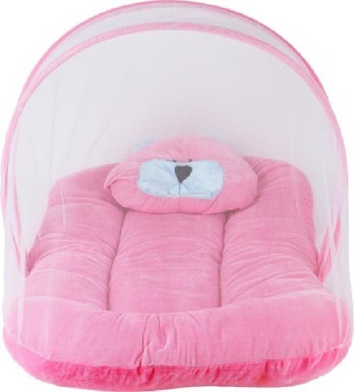 Anmol Velvet Bedding Set(Pink)