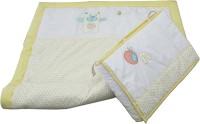 Tezerac Quilt set Cotton Bedding Set(Yellow, White)