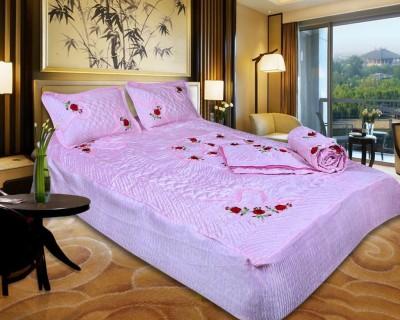 El Sandlo Ethnic Raw Silk Bedding Set(Pink)