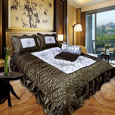El Sandlo Raw Silk Bedding Set(Green/Mahandi)