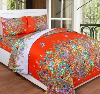 Shivalik Cotton Bedding Set(Orange)