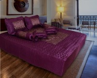 Rangsthali Satin Bedding Set(Purple)