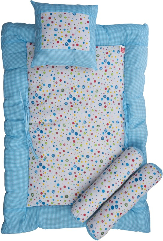 Love Baby Fruit Print Cotton Bedding Set(Blue)