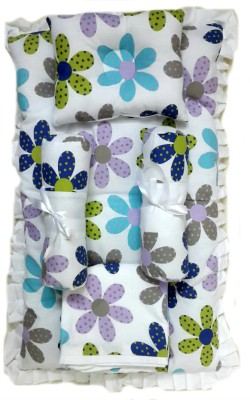Krivi Kids Floral Cotton, Polyester Bedding Set
