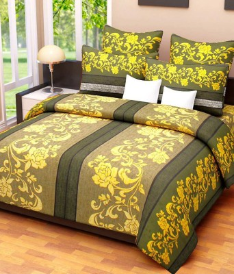 HOME DESIGNS Cotton Abstract Double Bedsheet