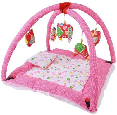 CHHOTE JANAB BABY PLAY GYM WITH MOSQUITO NET(Pink, White)