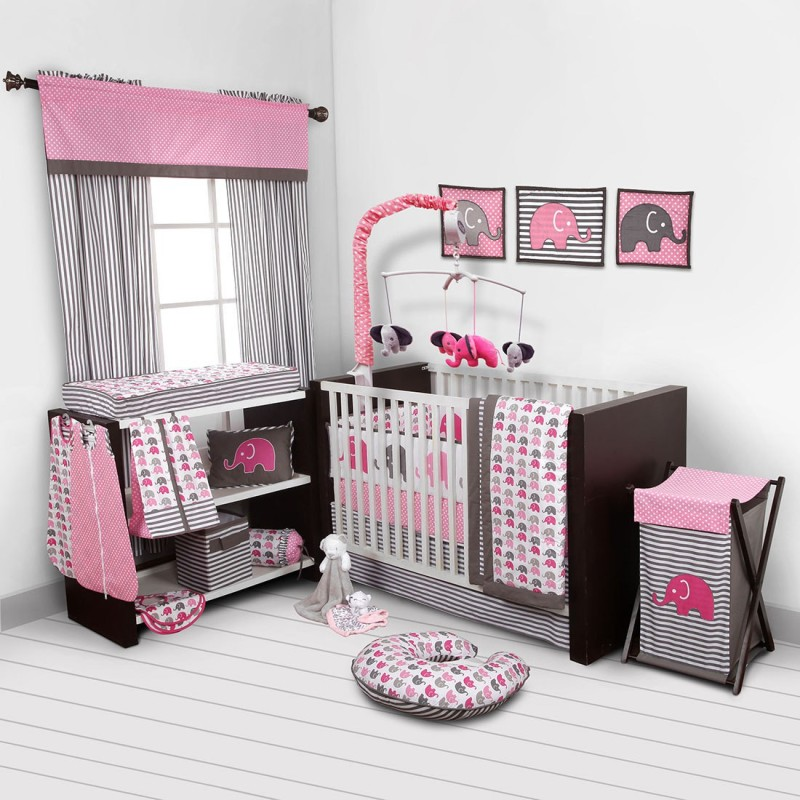 Bacati Cotton Bedding Set(Pink)