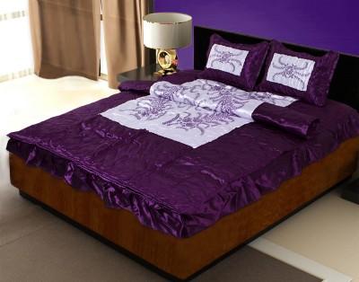 Rajasthan Crafts Cotton Silk Blend Bedding Set