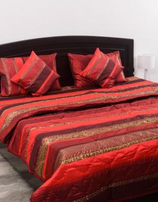 Kalasansar Contemporary Polyester, Cotton Bedding Set