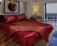 Rangsthali Satin Bedding Set(Maroon)