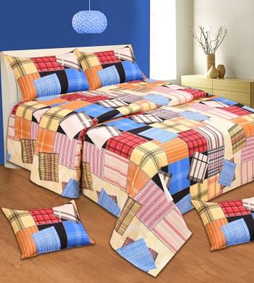 Aanand Sarover Cotton Geometric Double Bedsheet