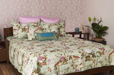 Turu India Jade Garden Cotton, Polycotton Bedding Set