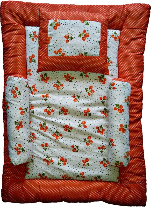 Love Baby Nursary Print Cotton Bedding Set(Red)