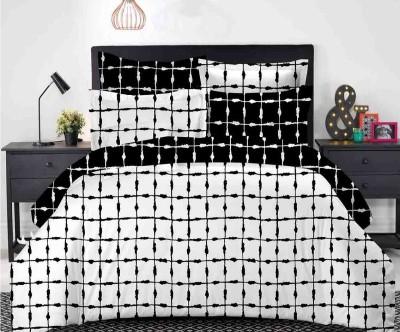 Dexim Polyester, Cotton Bedding Set(White)