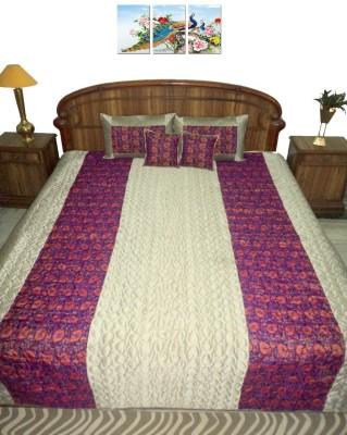 Amita Home Furnishing Raw Silk Bedding Set