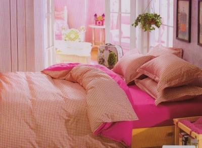 Spenio Cotton Checkered Double Bedsheet