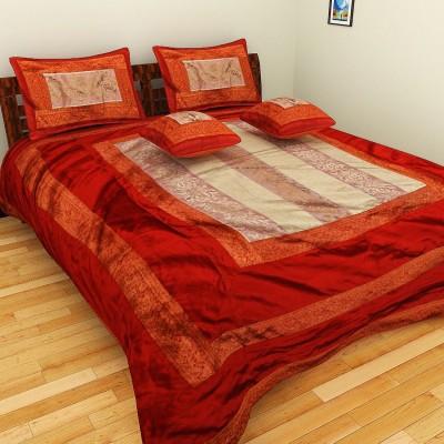 Nirmal Home Furnishing Bichona Cotton Silk Blend Bedding Set