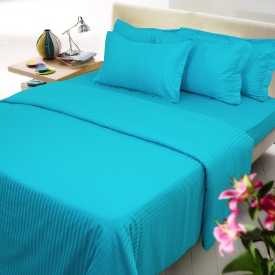 Mark Home Cotton Striped King sized Double Bedsheet