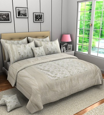 A,la Mode Designer Double Bedspread Raw Silk Bedding Set