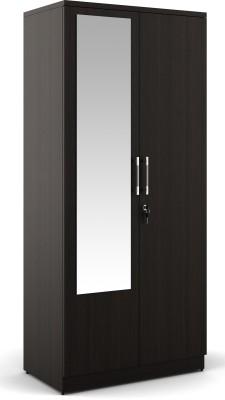 Spacewood Engineered Wood Free Standing Wardrobe(Finish Color - Natural Wenge, 2 Door )