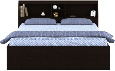 Spacewood Engineered Wood Queen Bed With Storage(Finish Color - Walk the line)