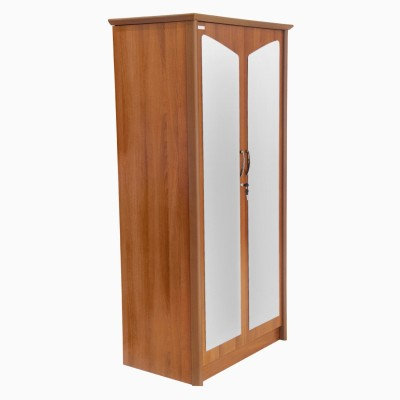 Godrej Interio Adriana 2 Door Wardrobe Walnut Engineered Wood Free Standing Wardrobe
