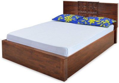 @home by Nilkamal Monalisa Solid Wood Queen Bed With Storage(Finish Color -  Walnut)
