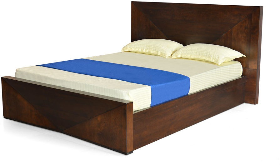 @home by Nilkamal Nixon Solid Wood Queen Bed With Storage