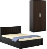 Spacewood Engineered Wood Bed + Wardrobe...