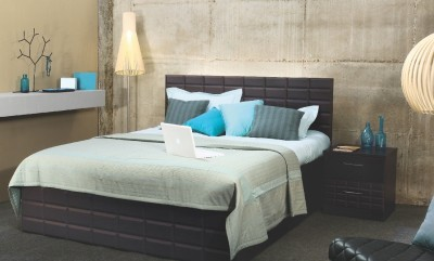 Godrej Interio Engineered Wood Bed + Side Table + Wardrobe