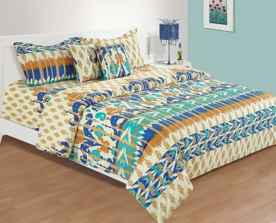 House This Cotton Abstract Double Bedsheet