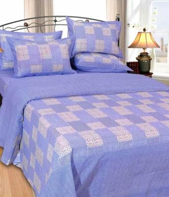 Handloomhub Cotton Checkered Double Bedsheet