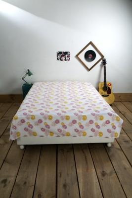 Ocean Collection Cotton Floral Single Bedsheet