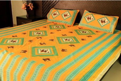 Ramabhakta Cotton Printed Queen sized Double Bedsheet
