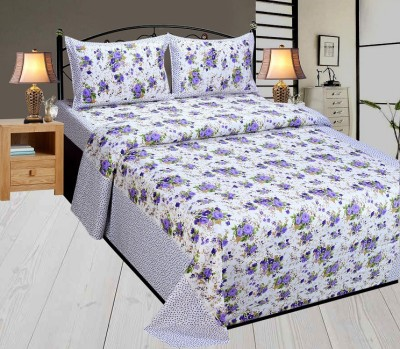 Singhs Villas Decor Cotton Floral Double Bedsheet