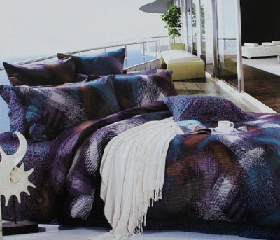 Rose Petal Cotton Abstract King sized Double Bedsheet