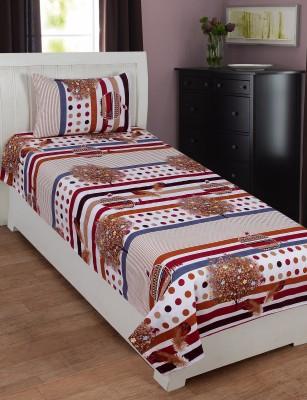 SHREEJEE Polycotton Printed Single Bedsheet