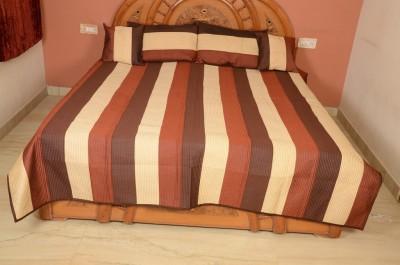 Evergreen Silk Printed Double Bedsheet
