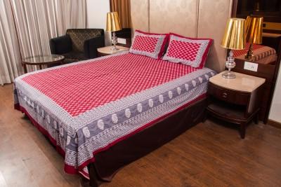 Kismat Collection Cotton Floral Double Bedsheet