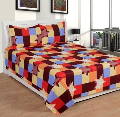 Royal 5d Premium Cotton Abstract Double Bedsheet