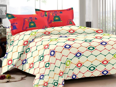 S4S Cotton Geometric Double Bedsheet