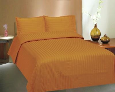 Ctm Textile Mills Satin Striped Double Bedsheet