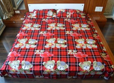 Flemingo Cotton Printed King sized Double Bedsheet