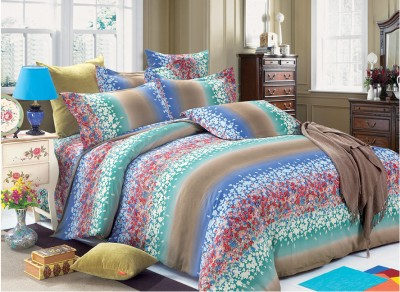 Zyne Cotton Floral Double Bedsheet
