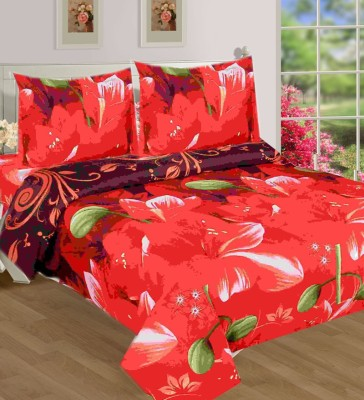SKYTEX Cotton Floral Double Bedsheet