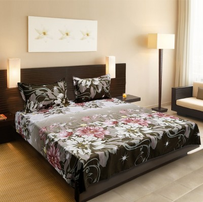 Titlis Polyester Floral Queen sized Double Bedsheet