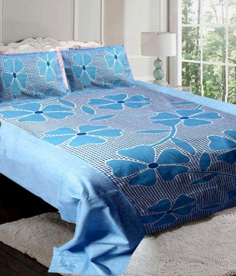 om trading co. Cotton Abstract King sized Double Bedsheet