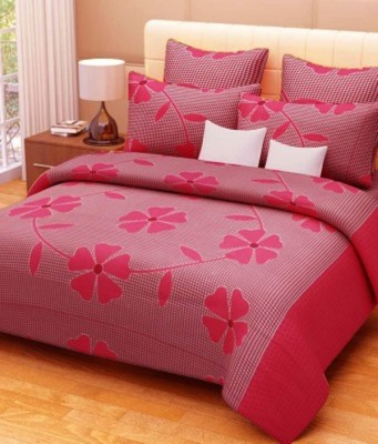 Chhabra Enterprises Cotton Floral Double Bedsheet
